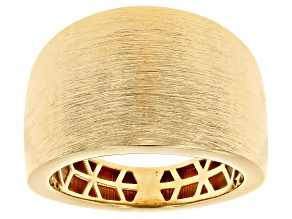 Pre-Owned Moda Al Massimo™ 18K Yellow Gold Over Bronze Cigar Band Ring