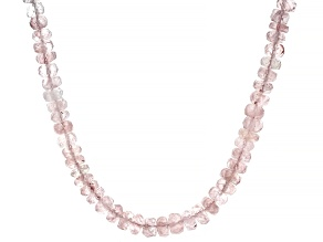 Pre-Owned Pink Morganite 14k Yellow Gold Beaded Necklace Approximately 100.00ctw