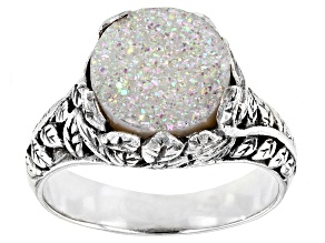 Pre-Owned Snow™ Drusy Quartz Sterling Silver Ring