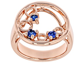 Pre-Owned Lab Created Blue Spinel Copper Ring 0.28ctw