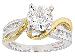 Pre-Owned Moissanite Platineve Two Tone Ring 1.74ctw D.E.W