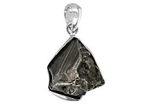 Pre-Owned Meteorite Rough Sterling Silver Pendant