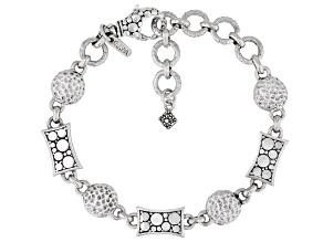 """Pre-Owned Sterling Silver """"Unshamed Dependence"""" Bracelet"""