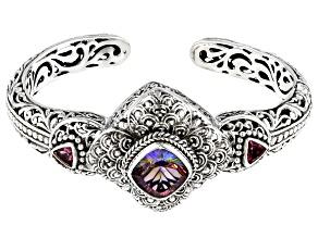 Pre-Owned Hawaiian Skies™ Topaz Silver Cuff Bracelet 5.40ctw