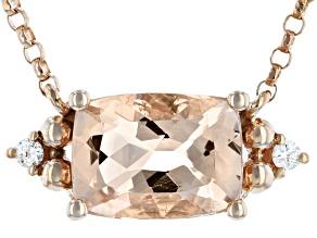 Pre-Owned Pink Cor-de-Rosa Morganite™ 10k Rose Gold Necklace 1.32ctw