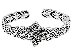 """Pre-Owned Sterling Silver """"Devotion"""" Cuff Bracelet"""