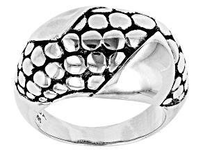 """Pre-Owned Sterling Silver """"Overflowing With Joy"""" Ring"""