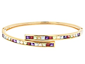 Pre-Owned Purple African Amethyst 18K Yellow Gold Over Sterling Silver Bracelet. 4.21ctw