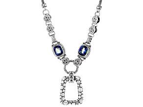 Pre-Owned Azotic Blue™ Quartz Silver Necklace 6.64ctw
