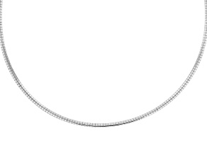 Pre-Owned Sterling Silver 3MM Omega Chain