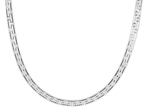 Pre-Owned Sterling Silver 18 Inch Omega Greek Necklace
