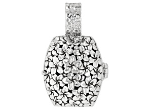 """Pre-Owned Sterling Silver """"He Is The Vine"""" Locket Pendant"""