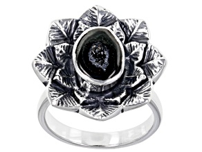 Pre-Owned Coconut Drusy Sterling Silver Ring