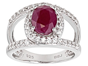 Pre-Owned Mahaleo Ruby Sterling Silver Ring 2.15ctw