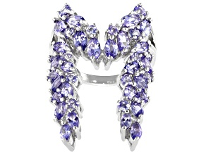 Pre-Owned Blue Tanzanite Rhodium Over Silver Ring 3.74ctw