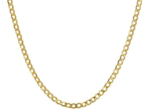 Pre-Owned 10K Yellow Gold 3.25MM Curb Chain Necklace 20 Inches