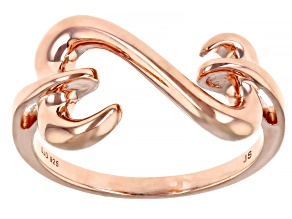 Pre-Owned 14k Rose Gold Over Sterling Silver Open Design Ring