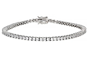 Pre-Owned Cubic Zirconia Platinum Over Sterling Silver Bracelet 8.77ctw