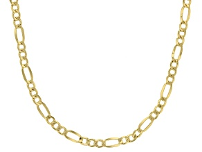 Pre-Owned 10k Yellow Gold 3.2mm Figaro 20 inch Chain Necklace