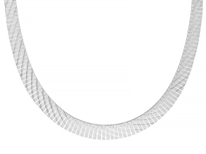 Pre-Owned Sterling Silver Graduated Cleopatra Necklace