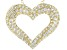 Pre-Owned White Cubic Zirconia 18k Yellow Gold Over Sterling Silver Heart Pendant With Chain 2.22ctw