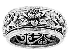 """Pre-Owned Sterling Silver """"New Creation"""" Spinner Band Ring"""
