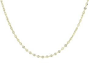 Pre-Owned 10K Yellow Gold 3.30MM Cable Link 24 Inches Necklace
