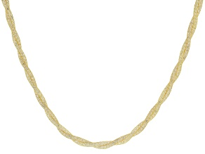 """Pre-Owned 10K Yellow Gold Bella Luce® White Cubic Zirconia 4.0MM Crochet D'Tuscano 18"""" Necklace 44.5"""