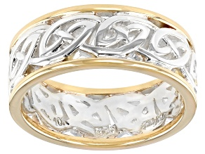 Pre-Owned Sterling Silver and 10K Yellow Gold Ring