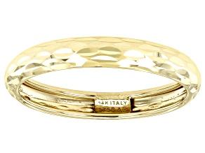 Pre-Owned Splendido Oro™ 14k Yellow Gold Diamond Cut Band Ring