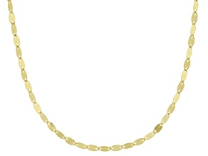 Pre-Owned 10k Yellow Gold Polished Mirror Link 20 Inch Necklace
