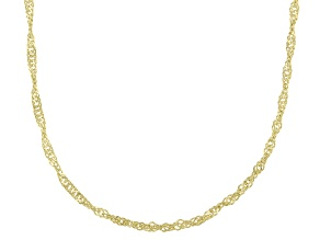 Pre-Owned 14K Yellow Gold Singapore Chain Necklace 16 Inch