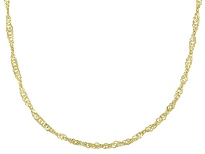 Pre-Owned 14K Yellow Gold Singapore Chain Necklace 18 Inch