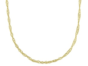 Pre-Owned 14K Yellow Gold Singapore Chain Necklace 24 Inch