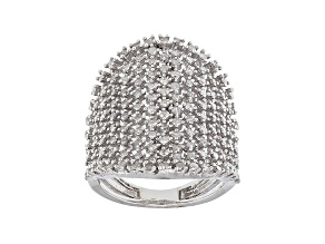 Pre-Owned White Diamond Rhodium Over Sterling Silver Ring 1.48ctw