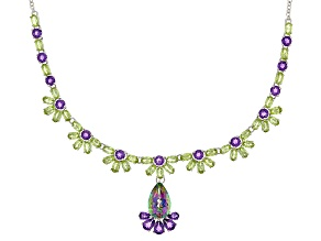Pre-Owned Mystic Topaz® Sterling Silver Necklace 25.43ctw