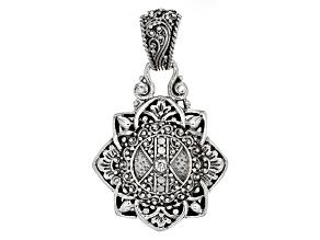 Pre-Owned White Diamond Silver Pendant .06ct