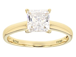 Pre-Owned White Cubic Zirconia 14k Yg Ring 2.50ctw