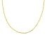 Pre-Owned 10K Yellow Gold .6MM Flat Twisted Cable Chain Necklace 18 Inch