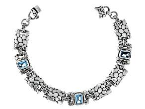 Pre-Owned Blue Topaz Silver Bracelet 0.80ctw