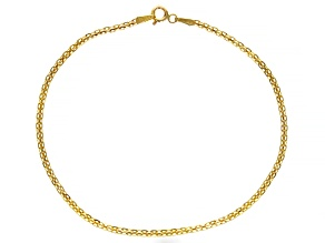 Pre-Owned 10K Yellow Gold 2.20MM Diamond-Cut Bismark Bracelet