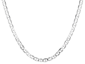 Pre-Owned Sterling Silver 20 inch Flat Mariner Chain Necklace