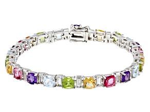 Pre-Owned Multi-gem sterling silver bracelet 16.64ctw