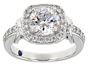 Pre-Owned white cubic zirconia platineve ring