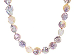 Pre-Owned Multi-Color Cultured Freshwater Pearl Rhodium Over Sterling Silver 36 Inch Necklace