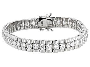 Pre-Owned Cubic Zirconia Platinum Over Sterling Silver Bracelet 14.25ctw