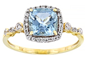 Pre-Owned Blue Aquamarine 10k Yellow Gold Ring 1.78ctw