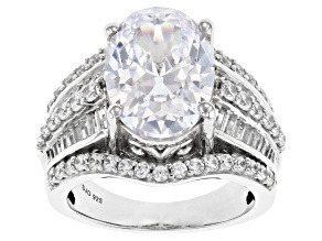 Pre-Owned White Cubic Zirconia Platinum Over Sterling Silver Ring 10.94ctw
