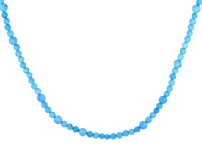 Pre-Owned Blue Sleeping Beauty Turquoise Rhodium Over Sterling Silver Necklace