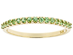 Pre-Owned Tsavorite Garnet 14k Yellow Gold Band Ring 0.29ctw